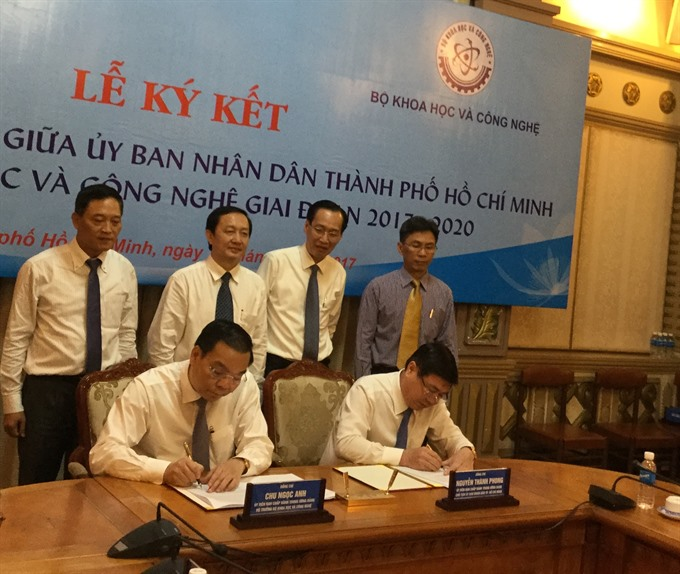 HCM City, Sci-tech Ministry sign agreement on science and technology development