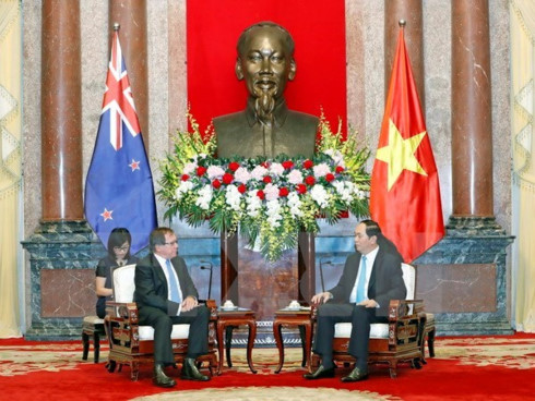 President hopes New Zealand to join economic development in Vietnam