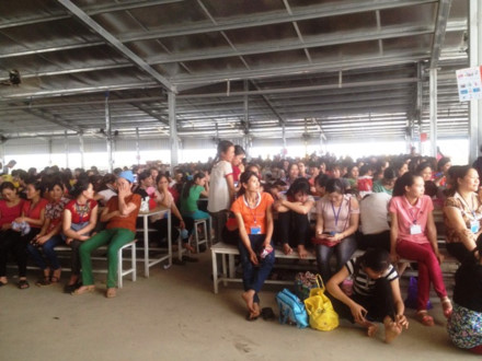 1,000 workers strike in Ninh Binh