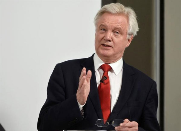 Brexit minister Davis says EU trying to bully Britain