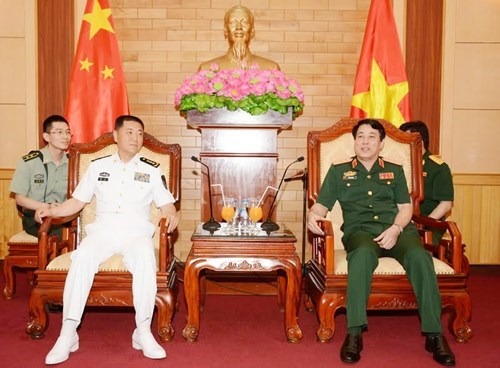 Army top official receives Chinese naval commissar, Government news, Vietnam breaking news, politic news, vietnamnet bridge, english news, Vietnam news, news Vietnam, vietnamnet news, Vietnam net news, Vietnam latest news, vn news