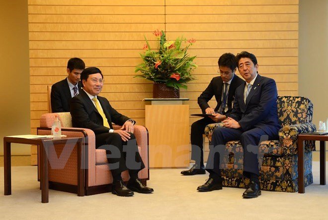 Deputy PM Pham Binh Minh meets Japanese leaders