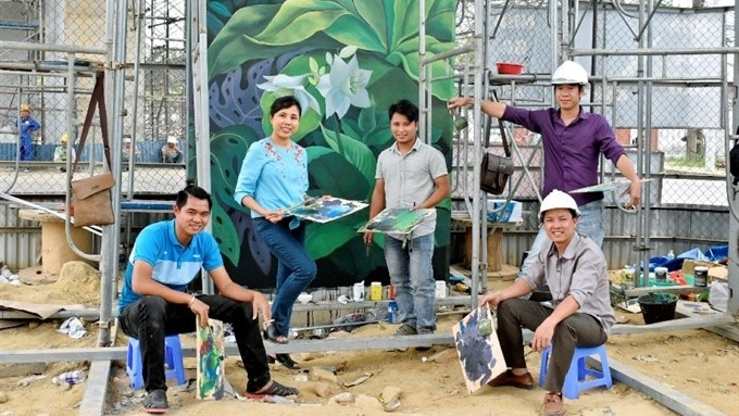 Mural painting at Da Nang airport wins bronze at Int'l Design Awards, entertainment events, entertainment news, entertainment activities, what's on, Vietnam culture, Vietnam tradition, vn news, Vietnam beauty, news Vietnam, Vietnam news, Vietnam net news,