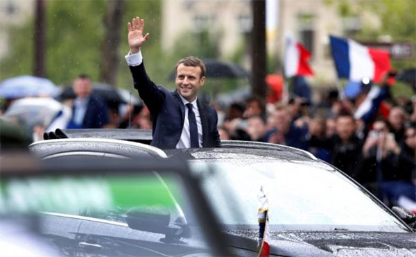 Emmanuel Macron, foreign diplomacy, control of a nuclear power, EU countries