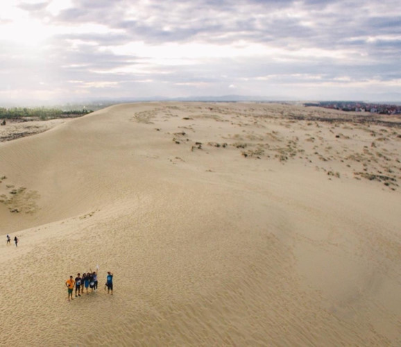 Sandboarding on the sand dunes of Quang Phu
