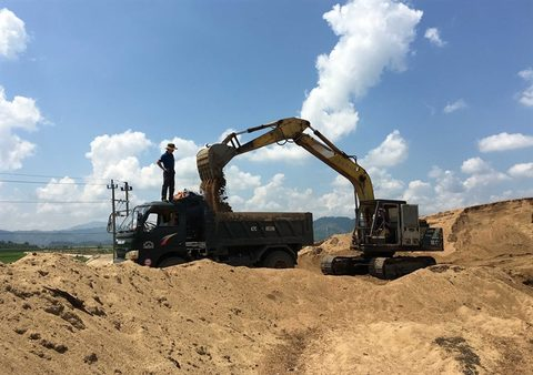 Price of Vietnam sand rises due to limited supply