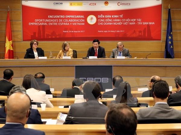 Deputy PM Pham Binh Minh chairs Vietnam-Spain business forum