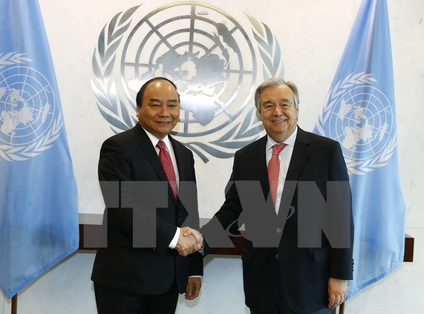 PM Nguyen Xuan Phuc holds talks with UN Secretary General, PM Nguyen Xuan Phuc holds talks with UN Secretary General
