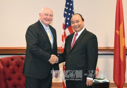PM Nguyen Xuan Phuc hosts US trade representative, agriculture secretary, Government news, Vietnam breaking news, politic news, vietnamnet bridge, english news, Vietnam news, news Vietnam, vietnamnet news, Vietnam net news, Vietnam latest news, vn news