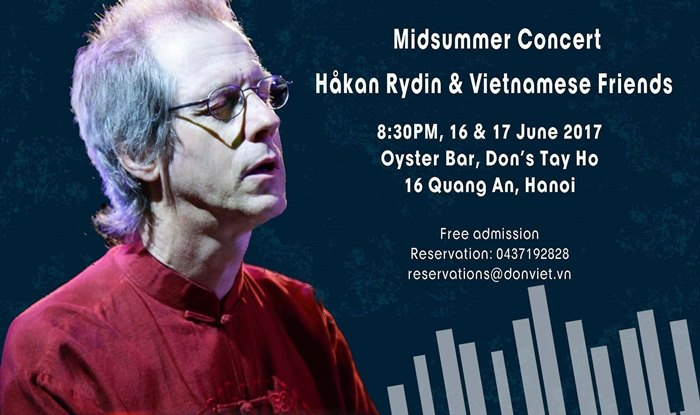 Hanoi Midsummer Concert by Swedish jazz professor Håkan Rydin & Vietnamese friends , entertainment events, entertainment news, entertainment activities, what's on, Vietnam culture, Vietnam tradition, vn news, Vietnam beauty, news Vietnam, Vietnam news,