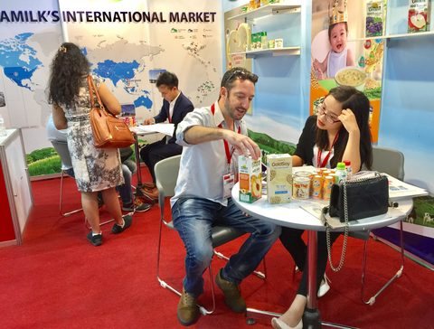 Viet Nam Dairy Products (Vinamilk) at THAIFEX-World of Food Asia 2017 in Bangkok. Vinamilk was ranked 8th in this year's list of the 300 most powerful companies in Asia according to Nikkei Asian Review. Image: Vietnam Bridge