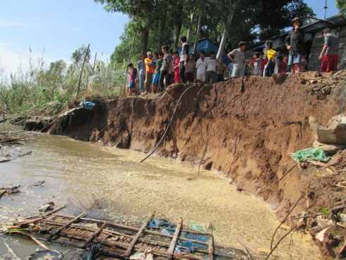 Measures to prevent landslides in the Mekong Delta, environmental news, sci-tech news, vietnamnet bridge, english news, Vietnam news, news Vietnam, vietnamnet news, Vietnam net news, Vietnam latest news, Vietnam breaking news, vn news
