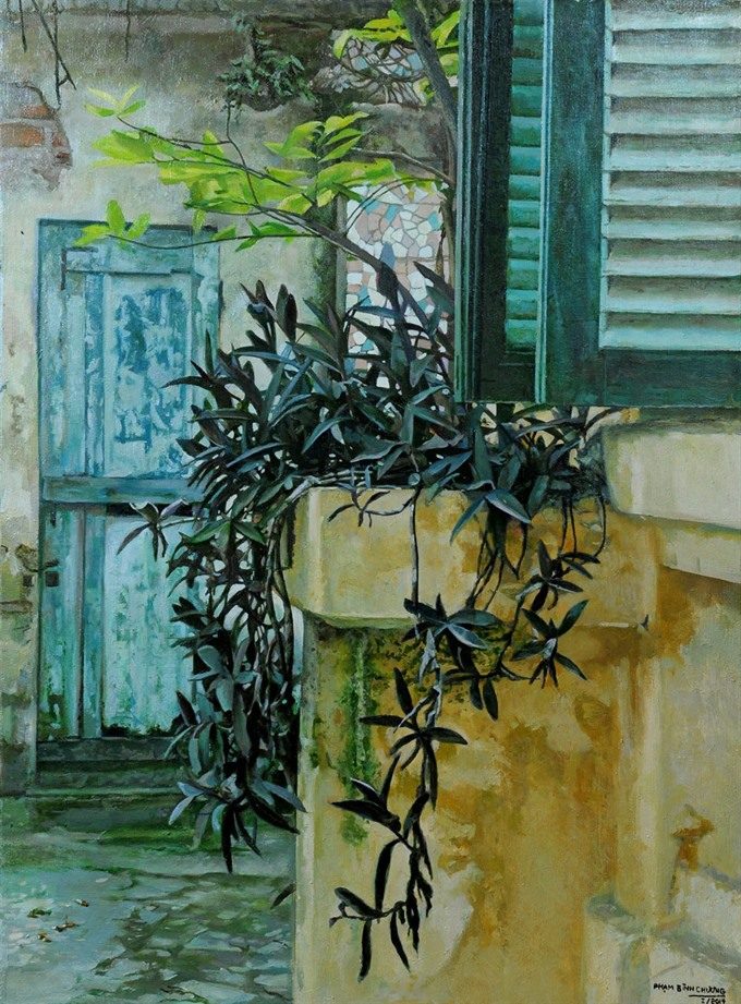 Paintings reveal tranquil side of Hanoi