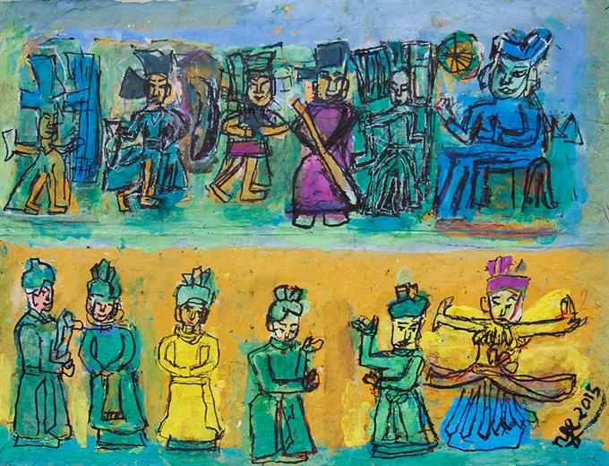 Artist Nguyen Tu Nghiem's masterpieces on display