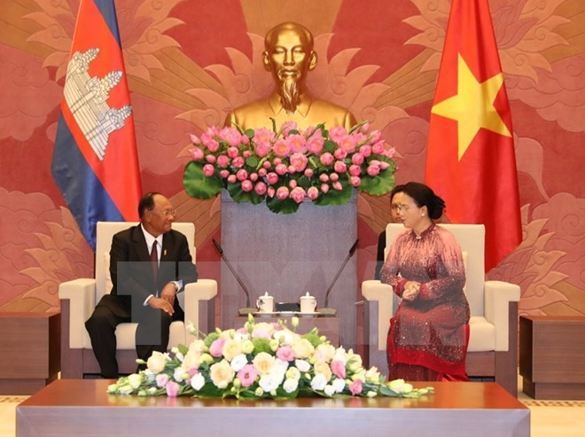 Vietnamese leaders receive Cambodian NA President, Government news, Vietnam breaking news, politic news, vietnamnet bridge, english news, Vietnam news, news Vietnam, vietnamnet news, Vietnam net news, Vietnam latest news, vn news