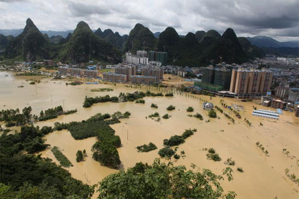 South China, torrential rains, flood, evacuated