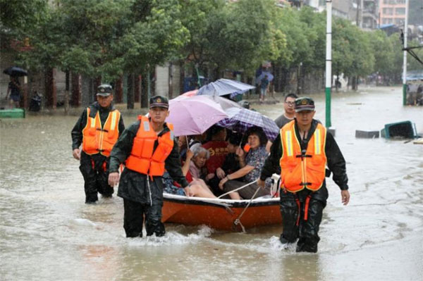 Chinese government, disbursed, emergency aid, camp beds, flooding