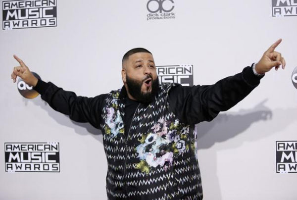 Music producer DJ Khaled, album 'Grateful', U.S. Billboard 200 album chart