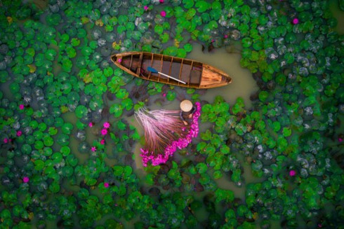 Vietnamese wins prize at int'l flycam photography contest