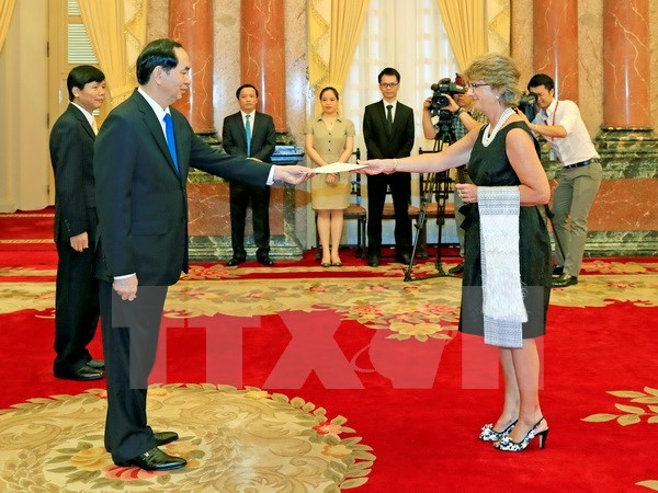 President Tran Dai Quang receives new and outgoing ambassadors, Government news, Vietnam breaking news, politic news, vietnamnet bridge, english news, Vietnam news, news Vietnam, vietnamnet news, Vietnam net news, Vietnam latest news, vn news