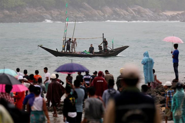 Investigators, Myanmar military plane, crashed, Andaman Sea, due to bad weather