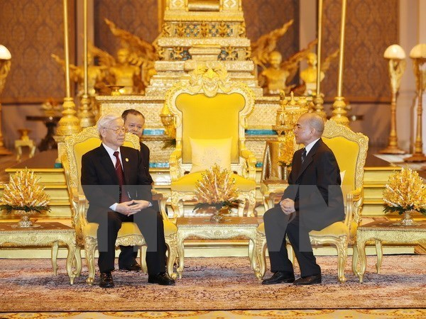 Party chief sends thank-you message to Cambodian King, Government news, Vietnam breaking news, politic news, vietnamnet bridge, english news, Vietnam news, news Vietnam, vietnamnet news, Vietnam net news, Vietnam latest news, vn news