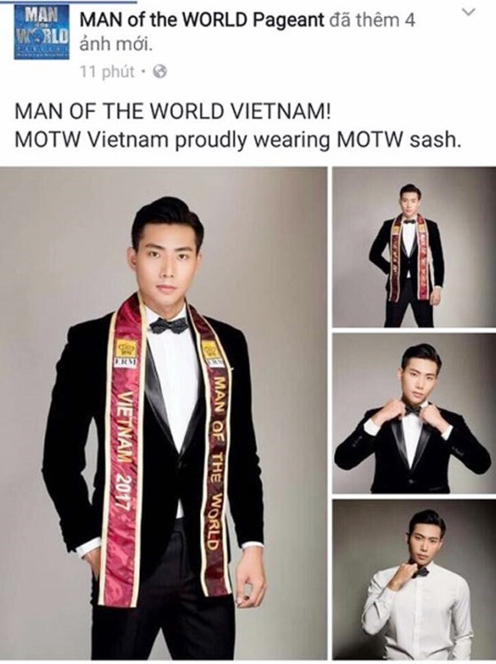 Model Huu Long represents Vietnam at Man of World 2017