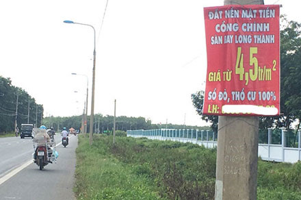 Real estate booms around Long Thanh Airport project, vietnam economy, business news, vn news, vietnamnet bridge, english news, Vietnam news, news Vietnam, vietnamnet news, vn news, Vietnam net news, Vietnam latest news, Vietnam breaking news