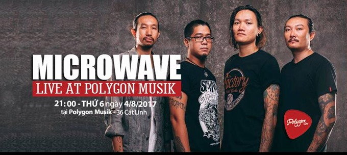 HCM City nu metal band Microwave rocks Polygon Musik, entertainment events, entertainment news, entertainment activities, what's on, Vietnam culture, Vietnam tradition, vn news, Vietnam beauty, news Vietnam, Vietnam news, Vietnam net news, vietnamnet news