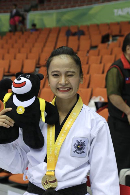 Taekwondo artist Nguyen Thi Le Kim, win gold medal, taekwondo athletes, Vietnam economy, Vietnamnet bridge, English news about Vietnam, Vietnam news, news about Vietnam, English news, Vietnamnet news, latest news on Vietnam, Vietnam