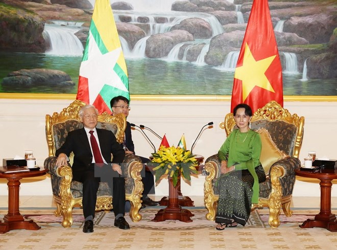 Party chief meets with Myanmar State Counsellor, Government news, Vietnam breaking news, politic news, vietnamnet bridge, english news, Vietnam news, news Vietnam, vietnamnet news, Vietnam net news, Vietnam latest news, vn news