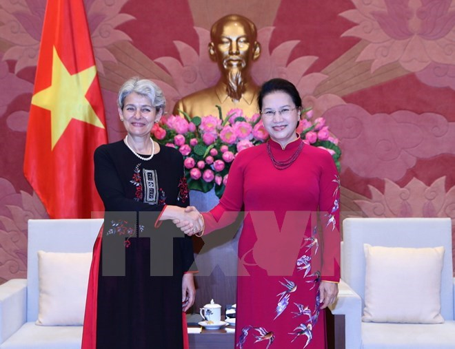 Top legislator welcomes UNESCO leader, Government news, Vietnam breaking news, politic news, vietnamnet bridge, english news, Vietnam news, news Vietnam, vietnamnet news, Vietnam net news, Vietnam latest news, vn news