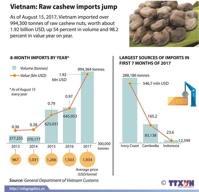 Cashew sector may miss export target, vietnam economy, business news, vn news, vietnamnet bridge, english news, Vietnam news, news Vietnam, vietnamnet news, vn news, Vietnam net news, Vietnam latest news, Vietnam breaking news