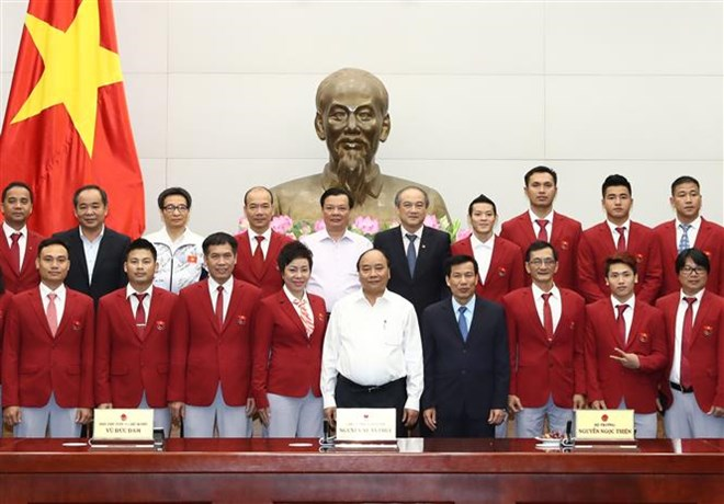PM congratulates trainers, athletes on SEA Games achievements, Sports news, football, Vietnam sports, vietnamnet bridge, english news, Vietnam news, news Vietnam, vietnamnet news, Vietnam net news, Vietnam latest news, vn news, Vietnam breaking news