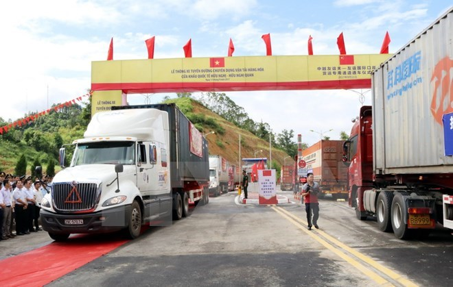 Vietnam-China freight route opens to traffic, vietnam economy, business news, vn news, vietnamnet bridge, english news, Vietnam news, news Vietnam, vietnamnet news, vn news, Vietnam net news, Vietnam latest news, Vietnam breaking news