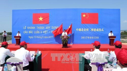$15 million China – Vietnam bridge opens to traffic, social news, vietnamnet bridge, english news, Vietnam news, news Vietnam, vietnamnet news, Vietnam net news, Vietnam latest news, vn news, Vietnam breaking news
