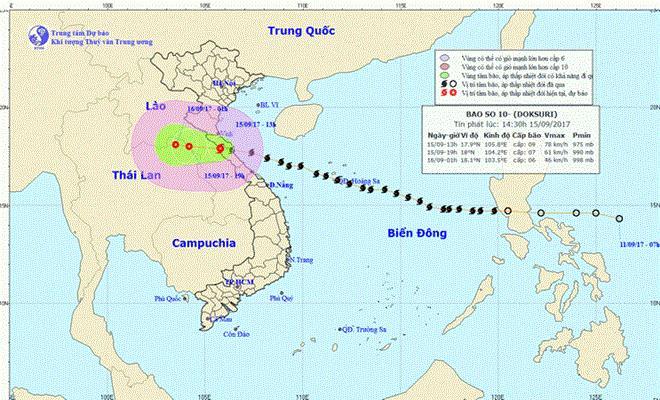 Typhoon Doksuri heads to Laos, weakens to low pressure, social news, vietnamnet bridge, english news, Vietnam news, news Vietnam, vietnamnet news, Vietnam net news, Vietnam latest news, vn news, Vietnam breaking news