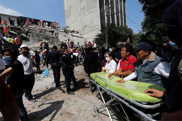 Strong quake near Mexico City kills at least 149