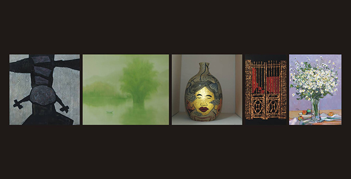 """Exhibition """"No. 5″ by five artists"""