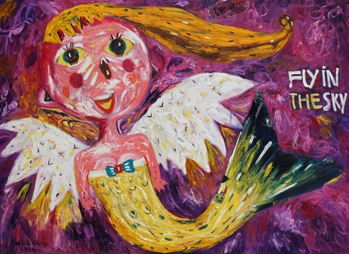 """Harmony of music & painting in """"Fly in the Skies"""""""