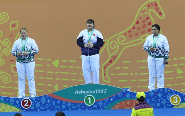 Thuy wins gold for kurash at AIMAG