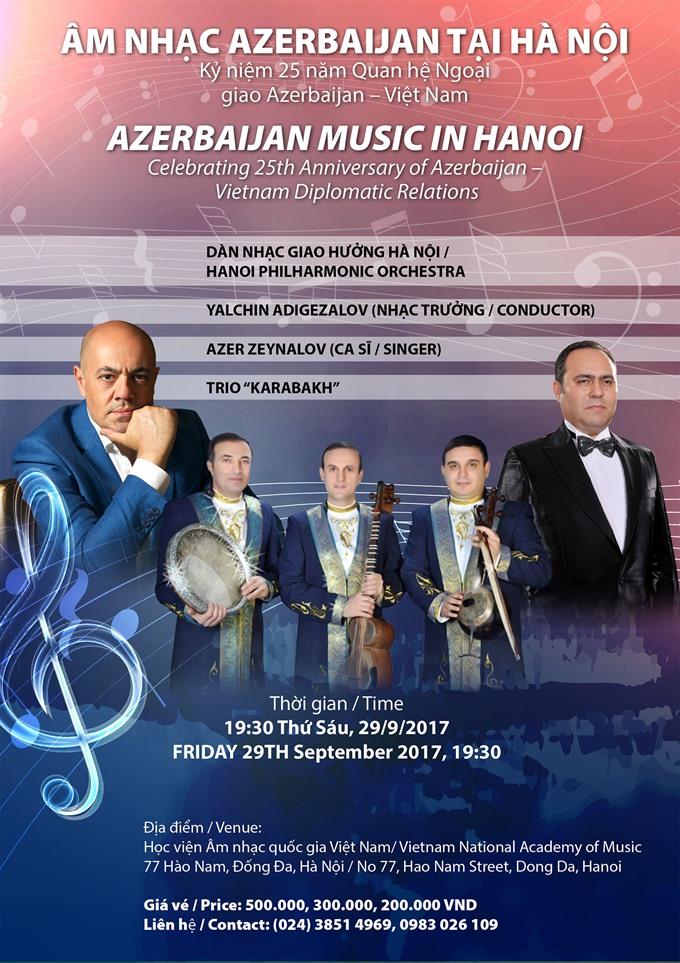 Concert celebrates friendship of Vietnam and Azerbaijan