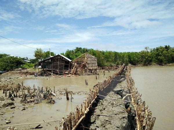 Landslides plague seaside areas in Kien Giang province
