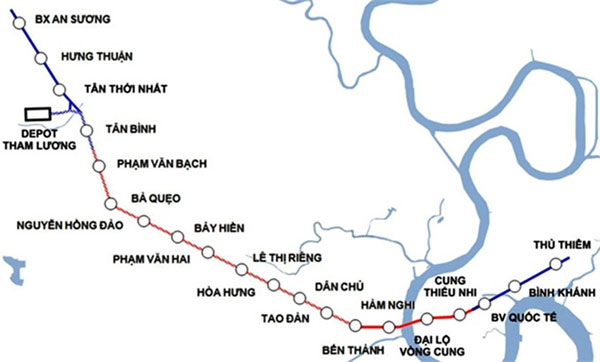 HCM City plans to extend Metro Line 2