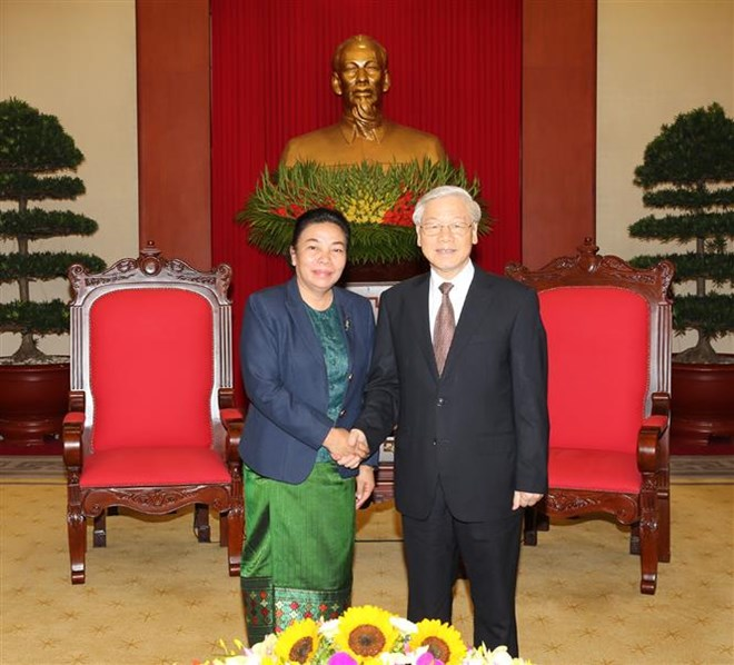 Party chief meets Lao Party official for external relations, Government news, Vietnam breaking news, politic news, vietnamnet bridge, english news, Vietnam news, news Vietnam, vietnamnet news, Vietnam net news, Vietnam latest news, vn news