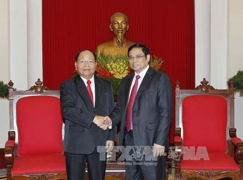 Party official greets Lao Minister of Home Affairs, Government news, Vietnam breaking news, politic news, vietnamnet bridge, english news, Vietnam news, news Vietnam, vietnamnet news, Vietnam net news, Vietnam latest news, vn news