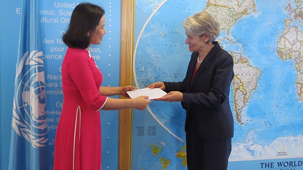 Vietnam's first female ambassador at UNESCO presents her credentials, Government news, Vietnam breaking news, politic news, vietnamnet bridge, english news, Vietnam news, news Vietnam, vietnamnet news, Vietnam net news, Vietnam latest news, vn news
