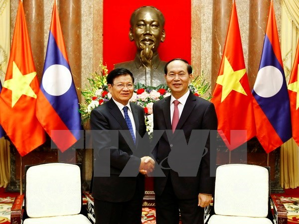 President: Vietnam gives top priority to boosting ties with Laos, Government news, Vietnam breaking news, politic news, vietnamnet bridge, english news, Vietnam news, news Vietnam, vietnamnet news, Vietnam net news, Vietnam latest news, vn news