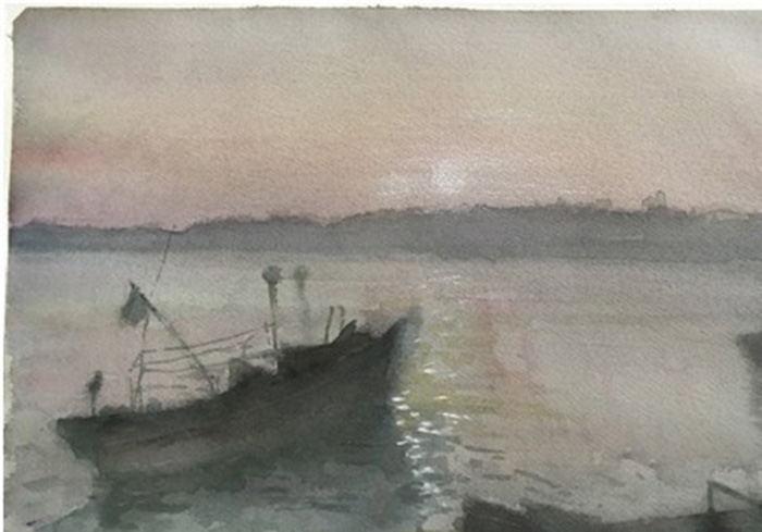 Watercolor painting exhibition by Chinese artist in Hanoi, entertainment events, entertainment news, entertainment activities, what's on, Vietnam culture, Vietnam tradition, vn news, Vietnam beauty, news Vietnam, Vietnam news, Vietnam net news, vietnamnet