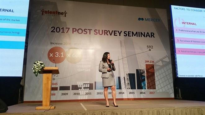 Salary hikes to stay ahead of inflation in 2017, 2018: survey, social news, vietnamnet bridge, english news, Vietnam news, news Vietnam, vietnamnet news, Vietnam net news, Vietnam latest news, vn news, Vietnam breaking news